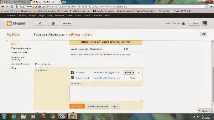 Transfer blog ownership